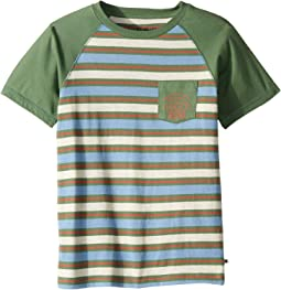 Striped Raglan Short Sleeve T-Shirt (Big Kids)