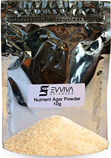 Nutrient Agar Powder 10 Grams - Evviva Sciences - Makes Over 20 Agar Petri Dishes - Pressure Cooker Or Autoclave Recommended - Easy to Use - Great for Science Fair Projects - W/Experiment EBook