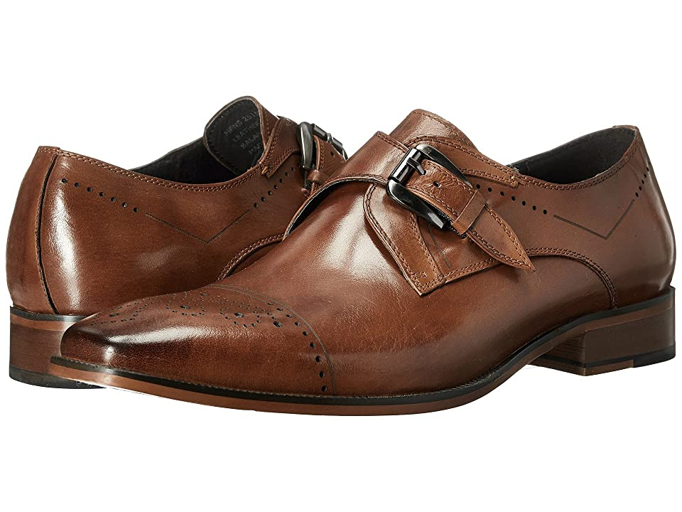 Stacy Adams Kimball Cap Toe Monk Strap (Saddle Tan) Men