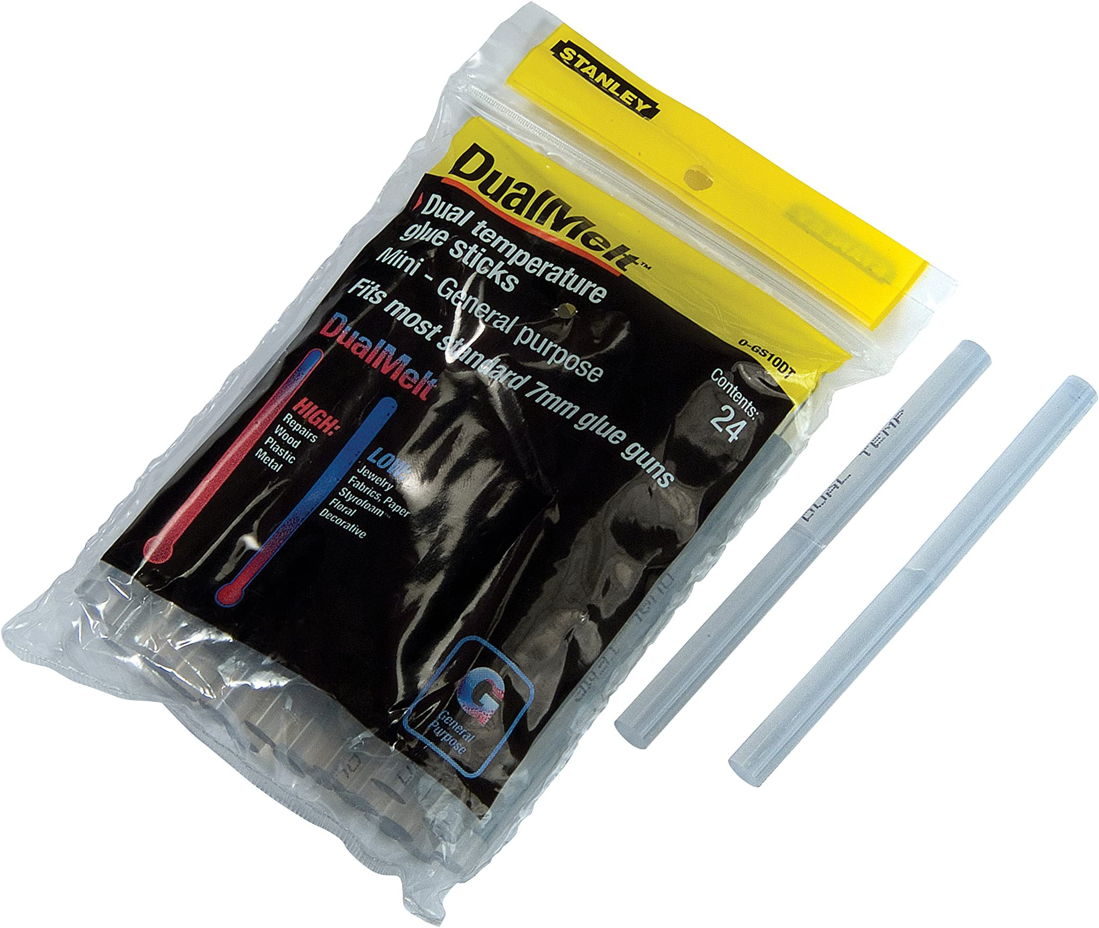 Stanley GS10DT Dual Temp Mini Glue Stick, 4 in. Length x 3 in. Height (Pack of 24)