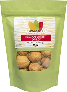 Whole Dried Persian Limes (Limu Omani)   100% PURE, NO PRESERVATIVES   Kosher Certified   (2.5 oz.)
