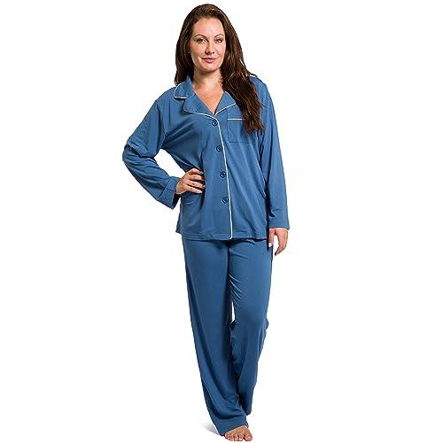 523928dcdc Fishers Finery Women s EcoFabric Full Length Pajama Set  Long Sleeve with  Gift Box