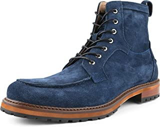 Asher Green AG413 - Mens Casual Boots, Motorcycle Boots - Designer Styled Work Boots for Men - Moc Toe, Cow Suede Dress Boots for Men
