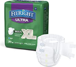 FitRight Ultra Adult Diapers, Disposable Incontinence Briefs with Tabs, Heavy Absorbency, X-Large, 57