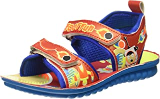 Footfun (from Liberty) Unisex Dollitle-1 Red Sandals and Floaters - 11 Kids UK/India (29 EU) (2153024120290)