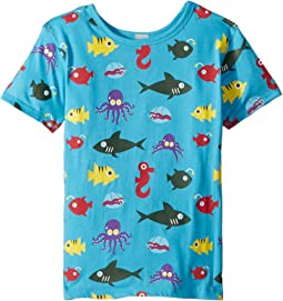 4Ward Clothing PBS KIDS® - Ocean Pattern Reversible Tee (Toddler/Little Kids)