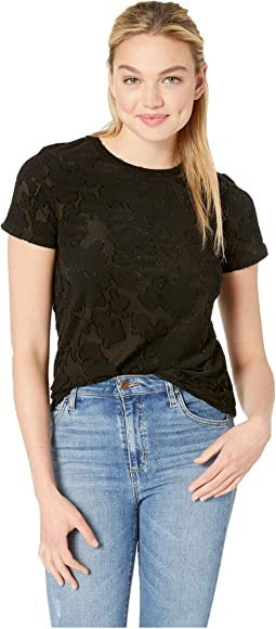 Sheer Jacquard Burnout Tee KS2K3793