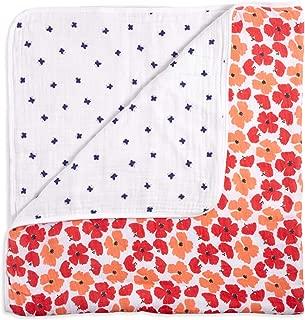 aden + anais White Label Dream Blanket   Boutique Muslin Baby Blankets for Girls & Boys   Ideal Newborn Nursery & Crib Bedding   Plush Toddler & Infant Blankets   Shower & Registry Gift Items Flora