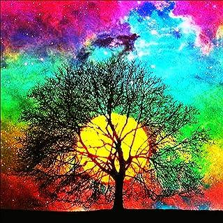5D Diamond Painting,Diamond Painting Kits,Full Drill Arts,Painting Kits for Adults & Kids,Diamond Painting Tools,Canvas Painting Kit,Cross Stitch Kits Beginner,Wall Decor (Moon Tree,16 x 16 in)