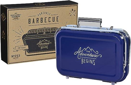 Gentlemen's Hardware GEN253 Portable BBQ, Blue, 32 x 31.5 x 40 cm :  Amazon.co.uk: Garden & Outdoors