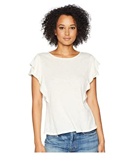 Tiered Ruffle Sleeve Knit Top