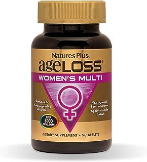 NaturesPlus AgeLoss Womens Multi - 90 Tablets - Anti-Aging Multivitamin & Mineral Supplement, Menstrual & Menopausal Suppo...