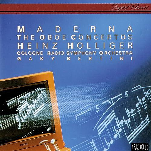 Maderna: Oboe Concertos Nos. 1-3 by Heinz Holliger & Kölner Rundfunk  Sinfonie Orchester & Gary Bertini on Amazon Music - Amazon.com