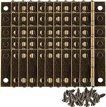 HALJIA 50 STKS Mini Brons Sieraden Antieke Kast Lade Doos Scharnieren Connectoren Decoratieve 2.4 * 1.6 cm Hasp Klink Lock...