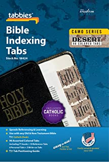 Tabbies Desert Camo Bible Indexing Tabs, Old & New Testaments Plus Catholic Books, 90 Tabs Including 71 Books, 10 Referenc...