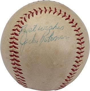 jackie robinson autographed baseball