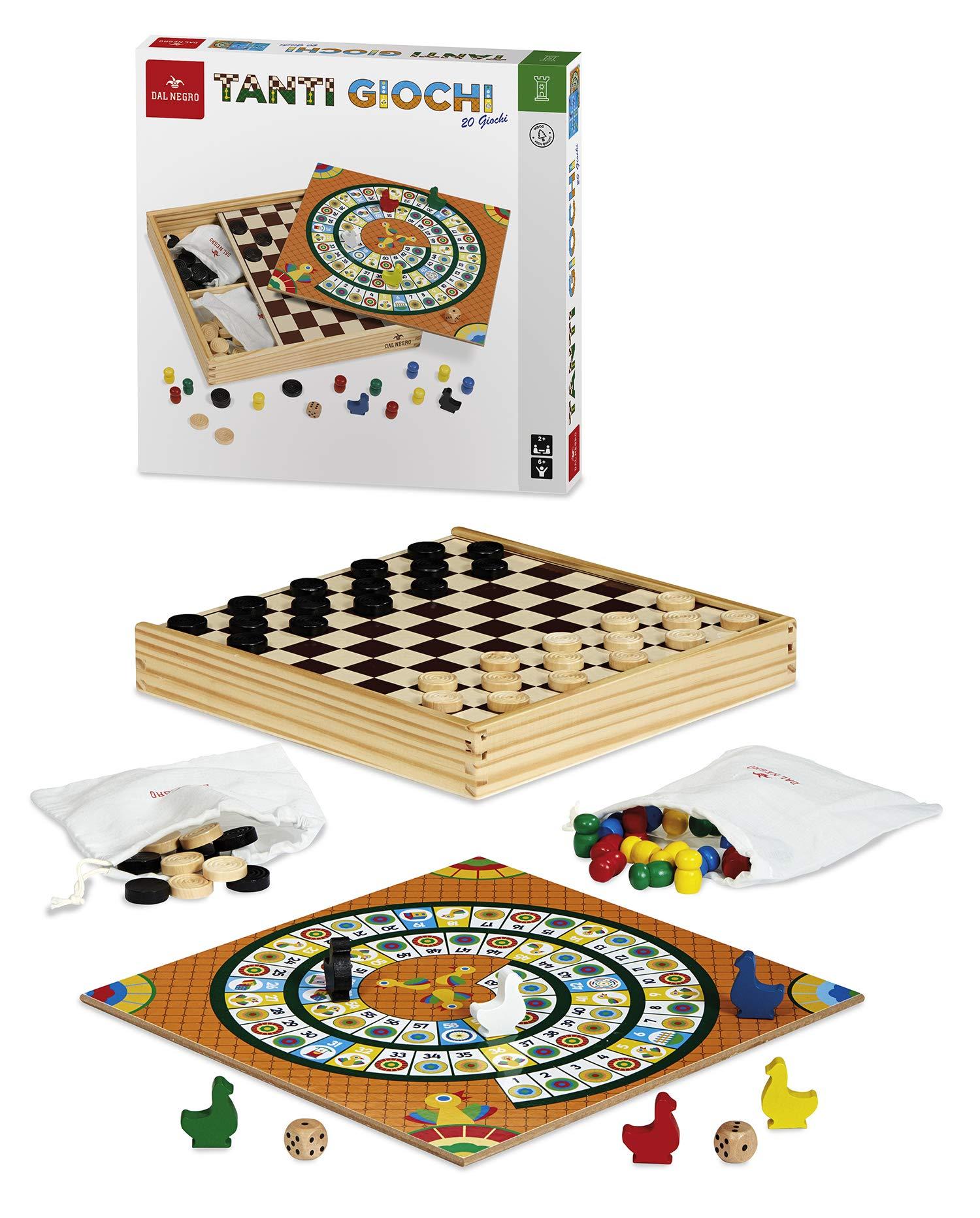 DAL NEGRO Muchos Juegos - 20 Juegos Juego de mesa Clasico Para adultos: Amazon.es: Juguetes y juegos