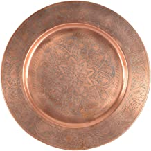 KRYPTAR Metal Big Size Brown Pooja Thali Pooja Workship Thali | Pooja Temple | Home Hotel Restaurant | Religious Spiritual...