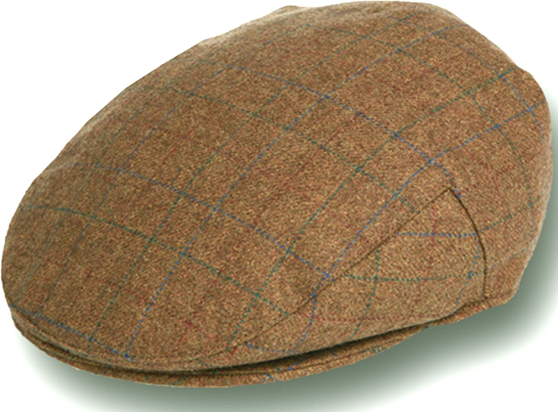 Epoch Men's Herringbone Wool Tweed Newsboy Ivy Cabbie Driving Hat