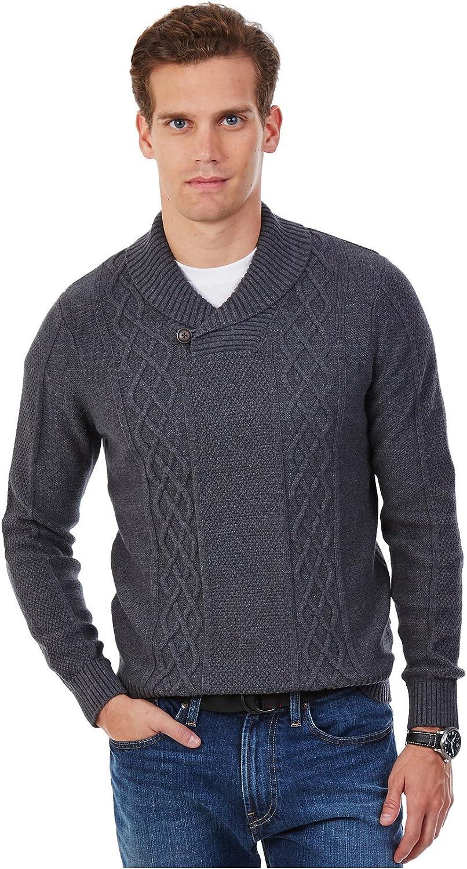 Max 65% OFF Nautica unisex Men's Cable-Knit Sweater Shawl-Collar