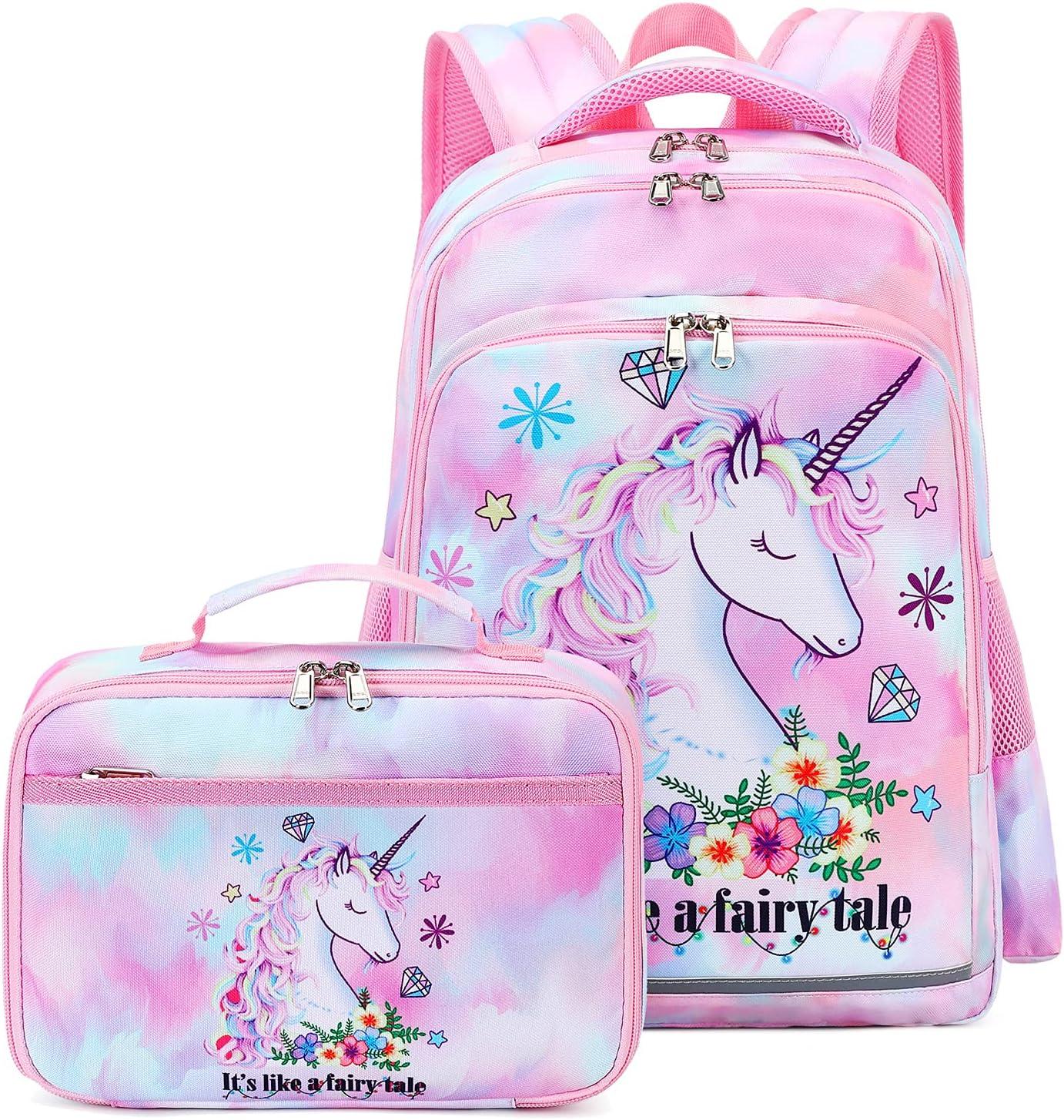 Girls Backpack Elementary Selling rankings Kids Fairy Bookbag Weekly update School Girly Ch bag