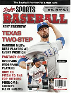 LINDY'S SPORTS BASEBALL MAGAZINE, 2017 PREVIEW VOLUME, 17 TEXAS TWO-STEP