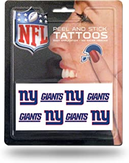Rico Industries NFL New York Giants Face Tattoos, 8-Piece Set