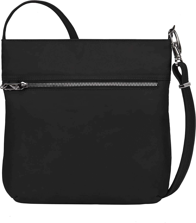 Travelon Women's Anti-Theft Tailored N/s Slim Bag, Onyx, 11 x 11 x 1.75