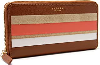 Radley London Wren Street LG Zip Around Tan Brown Continental Wallet