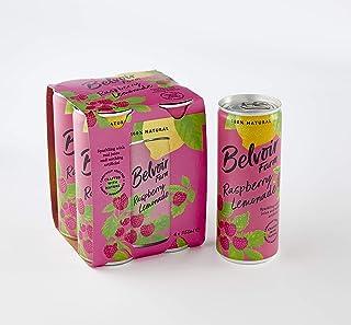 Belvoir Sparkling Raspberry Lemonade Juice Cans, 250 ml (Pack of 4),4084/64C