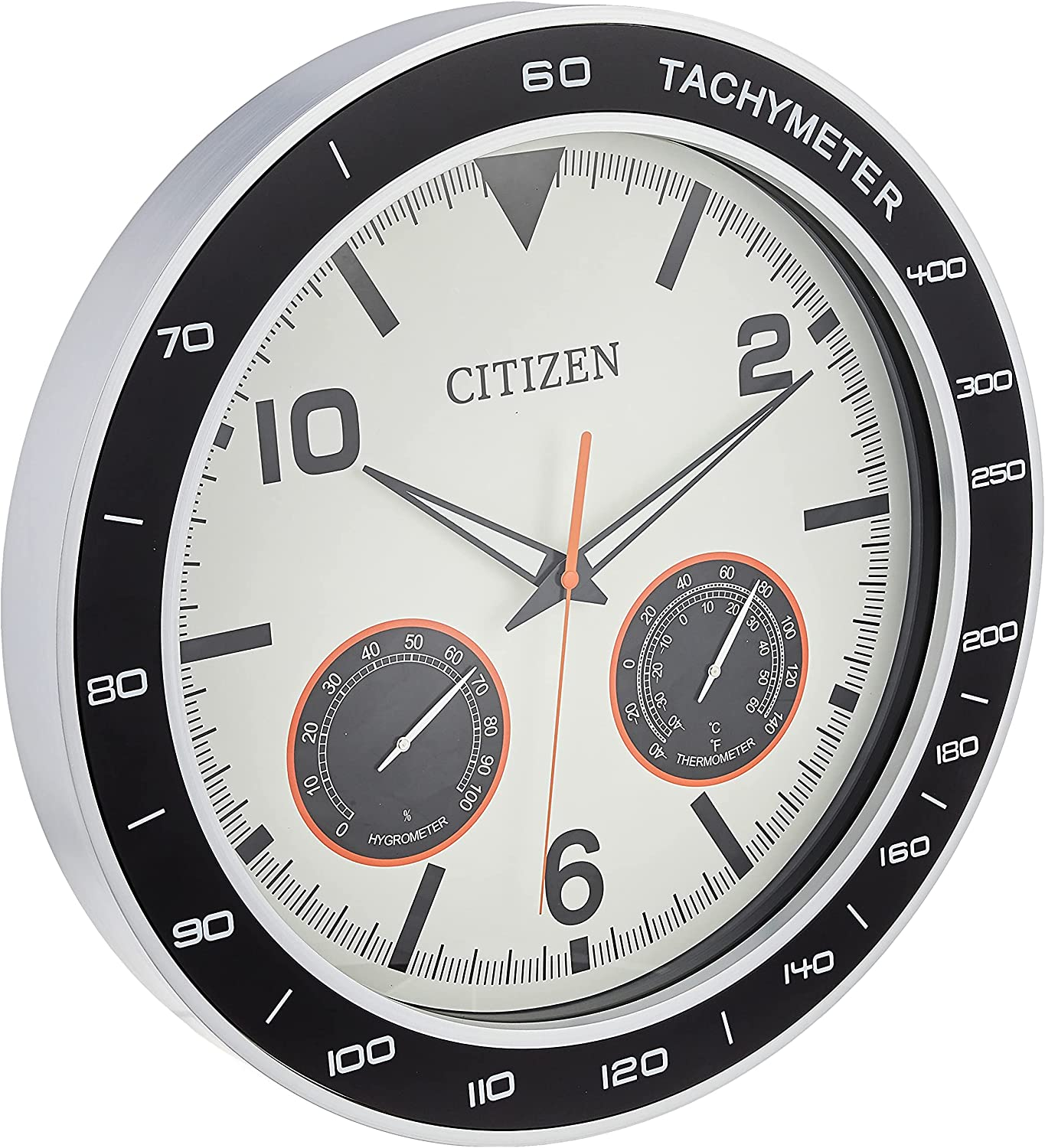Citizen CC2019 Outdoor Wall Clock Black Spring new work one after another Factory outlet