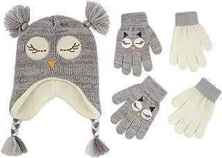 ABG Accessories Girls Critter Winter Hat and Gloves Toddler/Little Girls