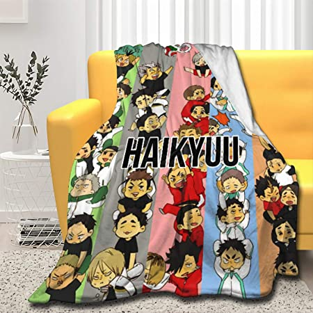 Size 50x40oft and Warm Throw Blanket Haikyuu Digital Printed Ultra-Soft Micro Fleece Blanket