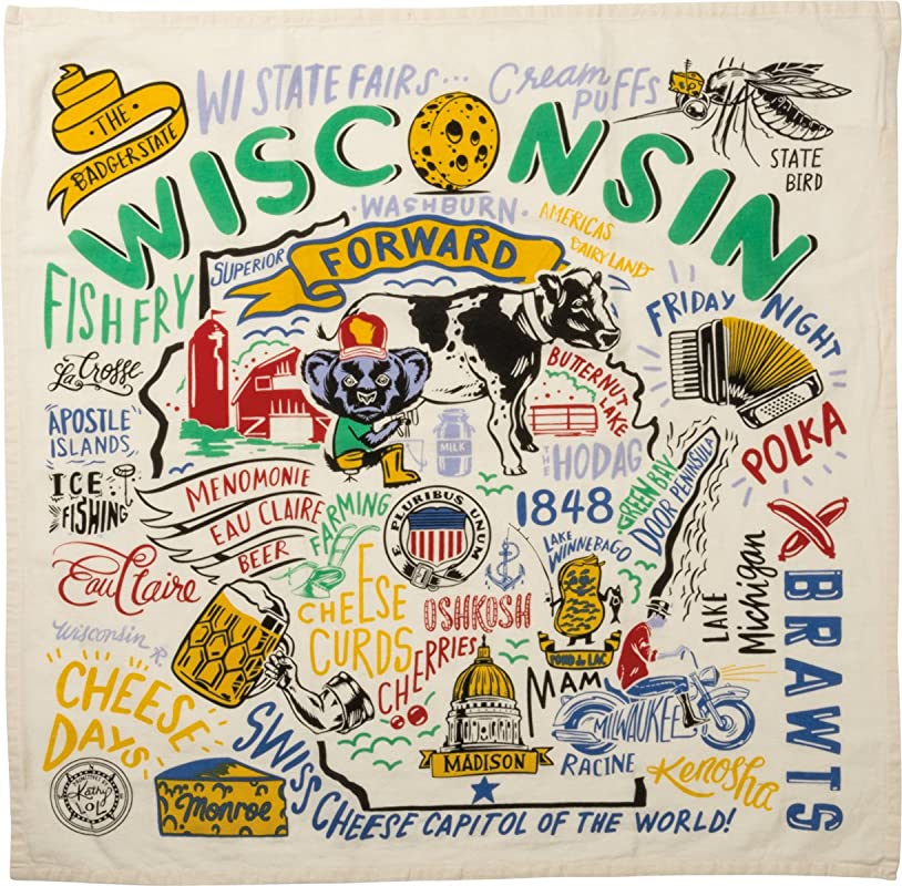 Primitives By Kathy 28 Dish Towel Wisconsin