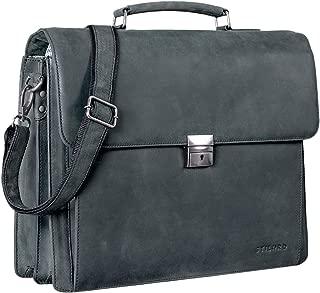 Farbe:schwarz STILORD Lean Umh/ängetasche Herren Damen Leder gro/ß Handtasche Klassische B/ürotasche Arbeit Business Unitasche DIN A4 Laptoptasche MacBook 13,3 Zoll echtes Rindsleder