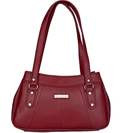 Aisna Women's Daisy Handbag(ASN-192)(Maroon)