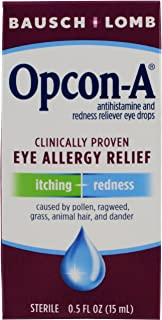 Sponsored Ad - Bausch + Lomb Opcon-A Antihistamine & Redness Reliever Eye Drops, 0.5 Ounces/15 mL (Pack of 3)