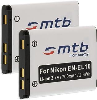 2X Batería EN-EL10 para Nikon Coolpix S230 S500 S510 S520 S570 S600. (Ver descripción)