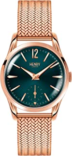 Henry London Ladies Stratford Watch with Analogue Display and Rose Gold Bracelet HL30-UM-0130