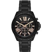 Michael Kors Women's Wren Quartz Watch with Stainless Steel Strap (Black)