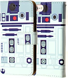 iPhone 7 Wallet Case, iPhone 7 Case,DURARMOR Star Wars R2D2 Astromech Droid Robot Premium PU Leather Wallet Case with ID Credit Card Cash Slots Flip Stand Wrist Strap Cover Carrying Case for iPhone 7