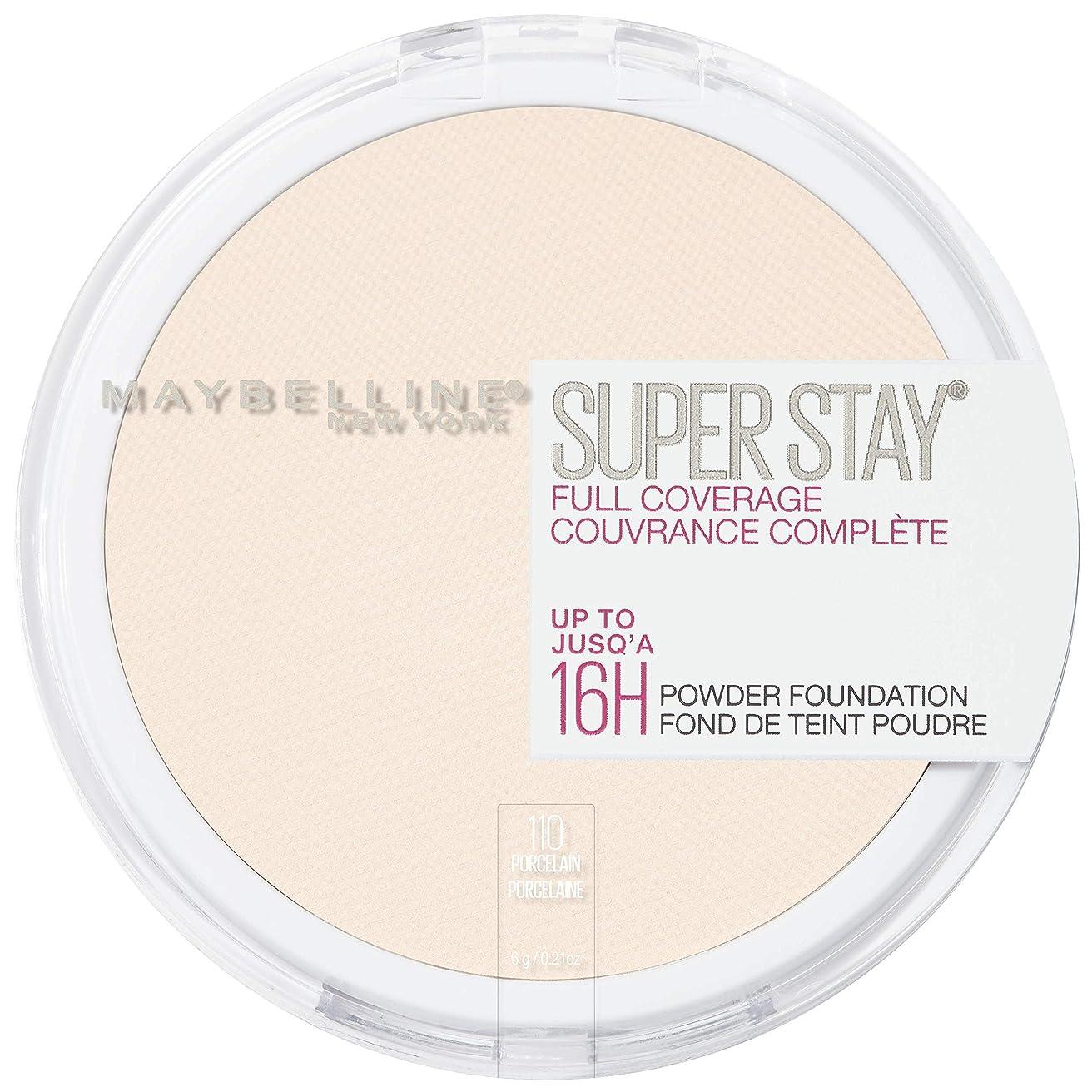 私たち結論救いMAYBELLINE Superstay Full Coverage Powder Foundation - Porcelain 110 (並行輸入品)