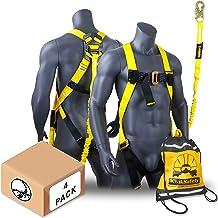 KwikSafety (Charlotte, NC) SCORPION (4 PACK) Safety Harness w/attached 6ft. Tubular Lanyard on back   OSHA ANSI Fall Prote...