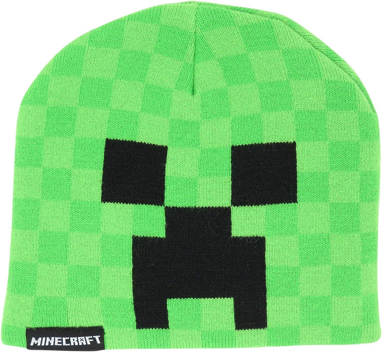 Minecraft Creeper Kids Beanie Hat Cap New Licensed Green