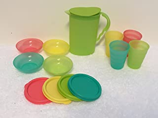Tupperware Kids Impressions Mini Serving Set Pitcher, Tumblers, Bowls