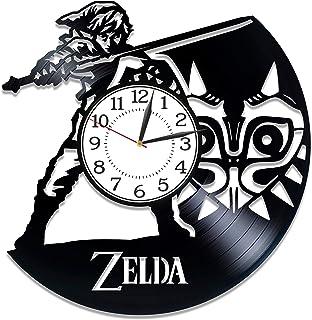Kovides Link 12 Inch Clock The Legend of Zelda for Man Video Game Handmade Clock Zelda Vinyl Record Wall Clock Video Game ...
