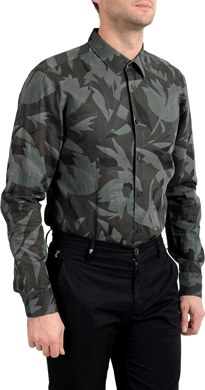 Hugo Boss Men's Ronni_F Slim Fit Linen Long Sleeve Casual Shirt US 2XL IT 56