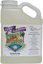 Termite Control - Cedar Bug-Free Termiticide. Natural Termite Treatment. Termite Spray - 1 gallon