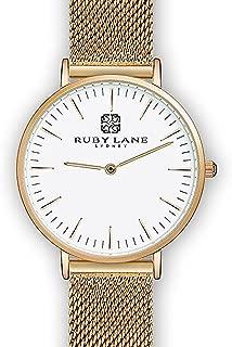 Ruby Lane Women OWG-Round Analog Quartz Watch
