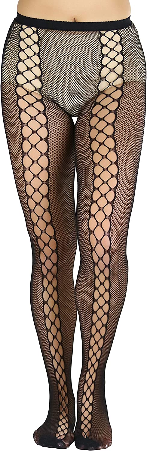 ToBeInStyle Women's Sexy Micro Net Lace Up Tights
